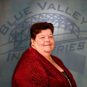 Janet Guinn, Transitional Case Manager at Blue Valley Industries.